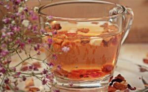 tea cup and flowers